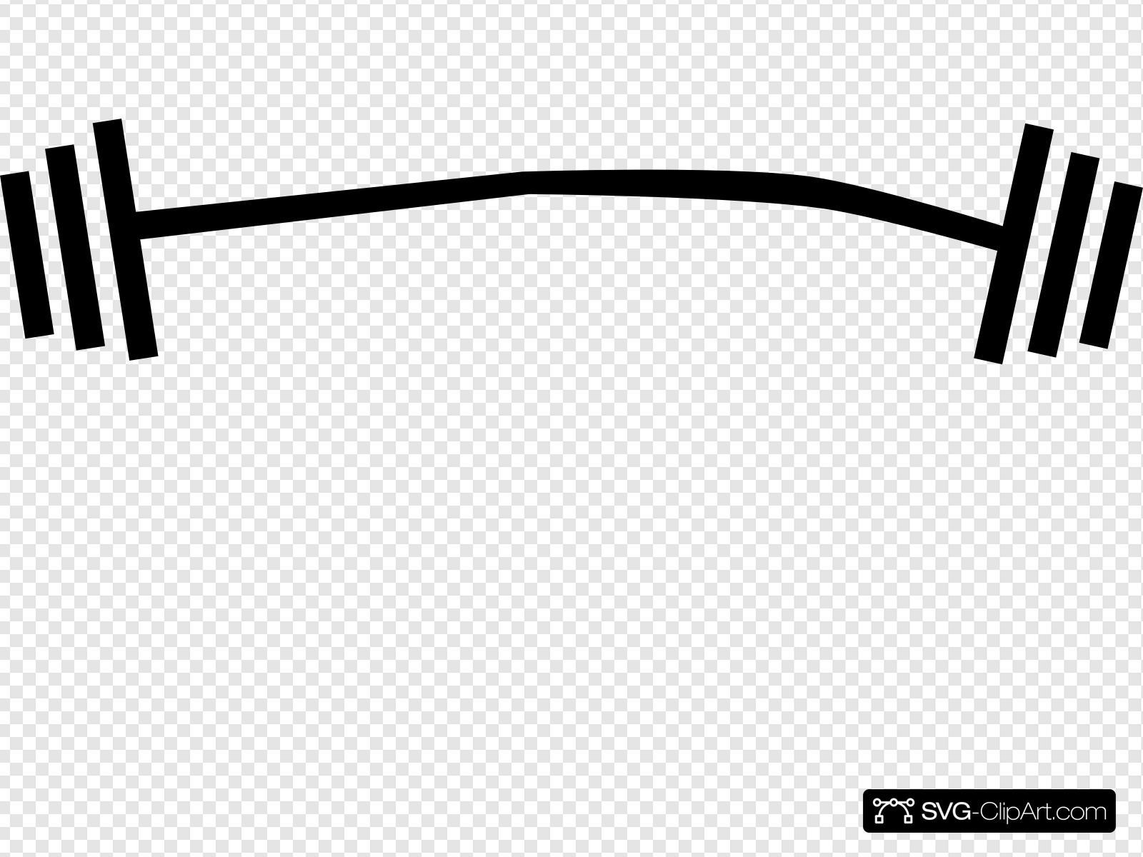 Weight clipart svg. Lifting barbell clip art