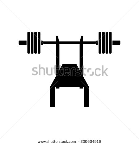 Bench clipart silhouette. Press