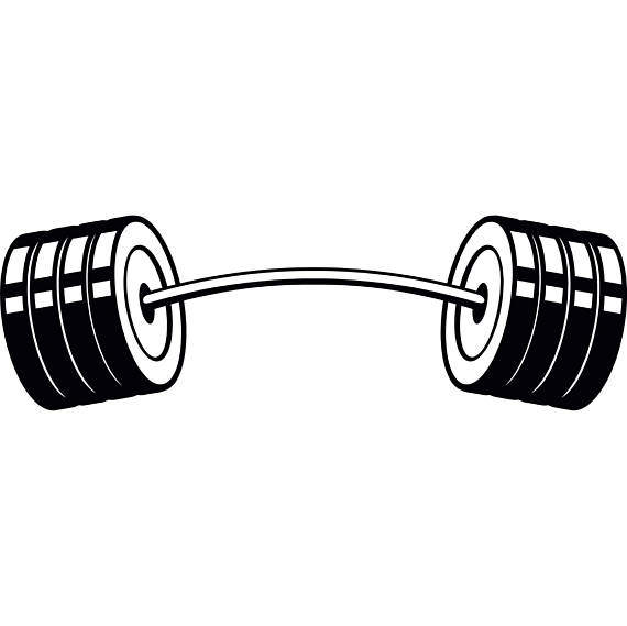 Printable drawing pictures png. Barbell clipart bent