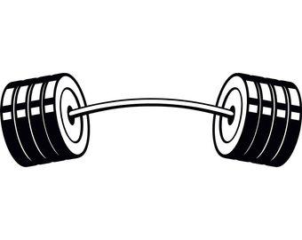Hands bar weightlifting bodybuilding. Barbell clipart bent