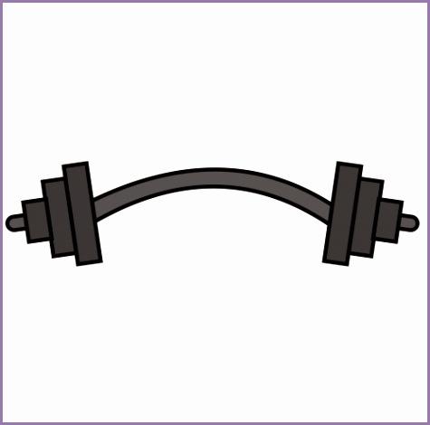 Barbell clipart bent. Bar weights f jaht
