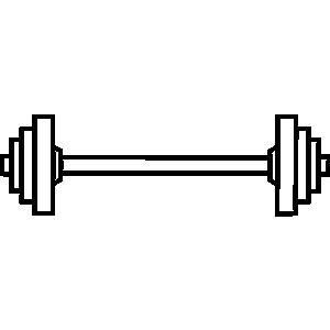 Dumbbells clipart black and white. Free weights download clip