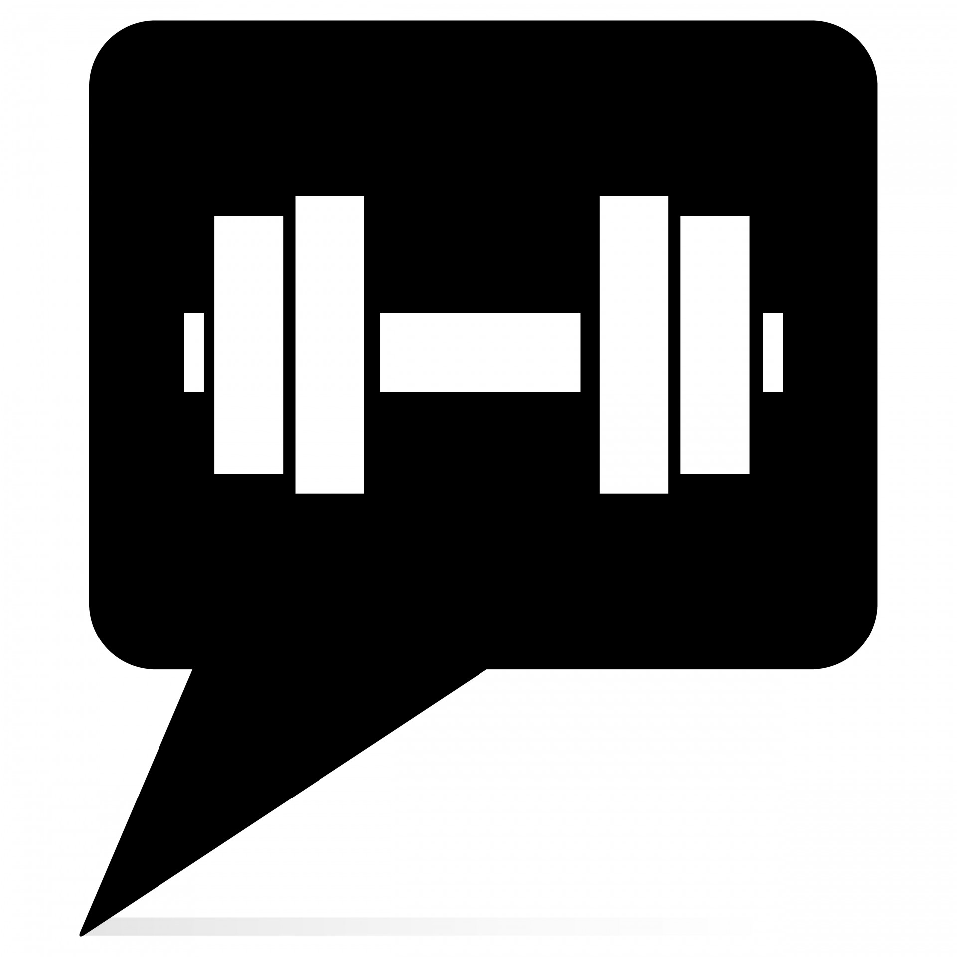 Barbell clipart black and white. Free stock photo public