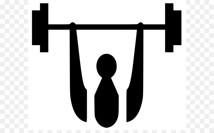 Weight training dumbbell clip. Barbell clipart black and white