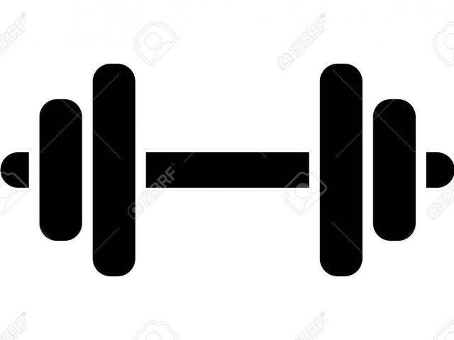 Barbell clipart black and white. Dumbbells fitness centre free