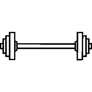 collection of weights. Barbell clipart black and white