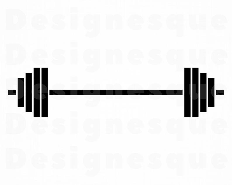 Svg weights files for. Barbell clipart bodybuilding