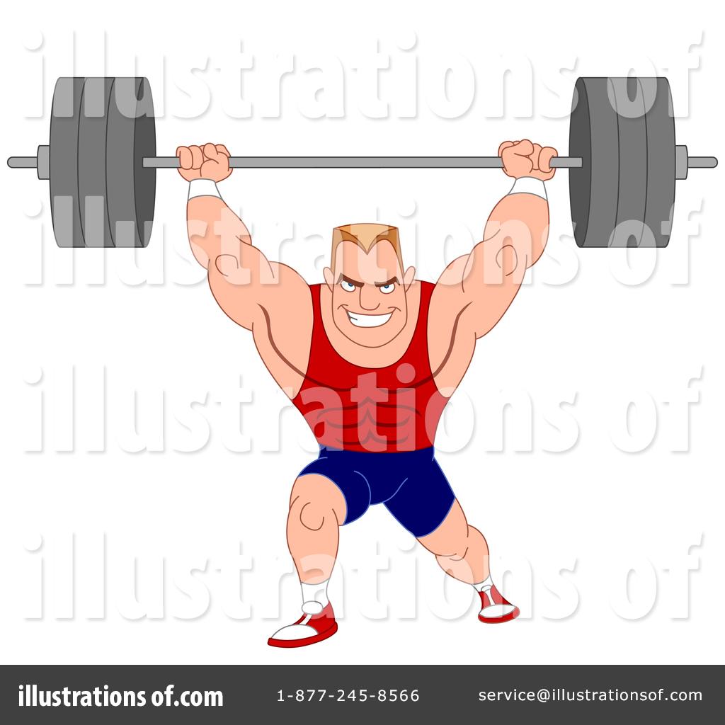 Bodybuilder illustration by yayayoyo. Barbell clipart bodybuilding