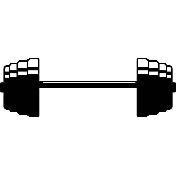 Barbell clipart bodybuilding. Weightlifting fitness workout gym