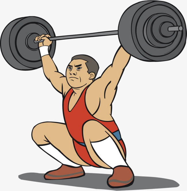 Weightlifter weightlifters png image. Barbell clipart cartoon