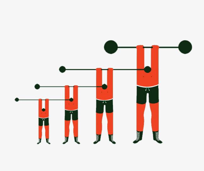 Man lifting weights weightlifting. Barbell clipart cartoon