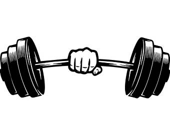 Unusual idea weightlifting clip. Weight clipart curved barbell