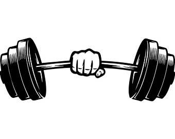 Unusual idea weightlifting etsy. Barbell clipart clip art