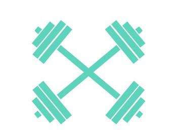 Barbell clipart cross. Monogram svg etsy crossfit