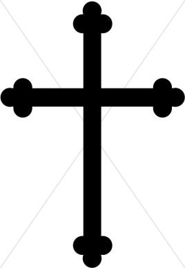 Black trinity graphic . Barbell clipart cross