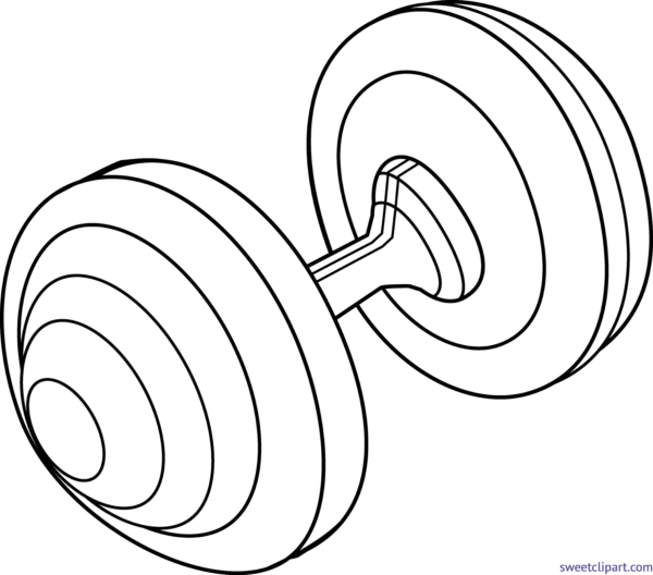 Sweet clip art page. Barbell clipart drawing