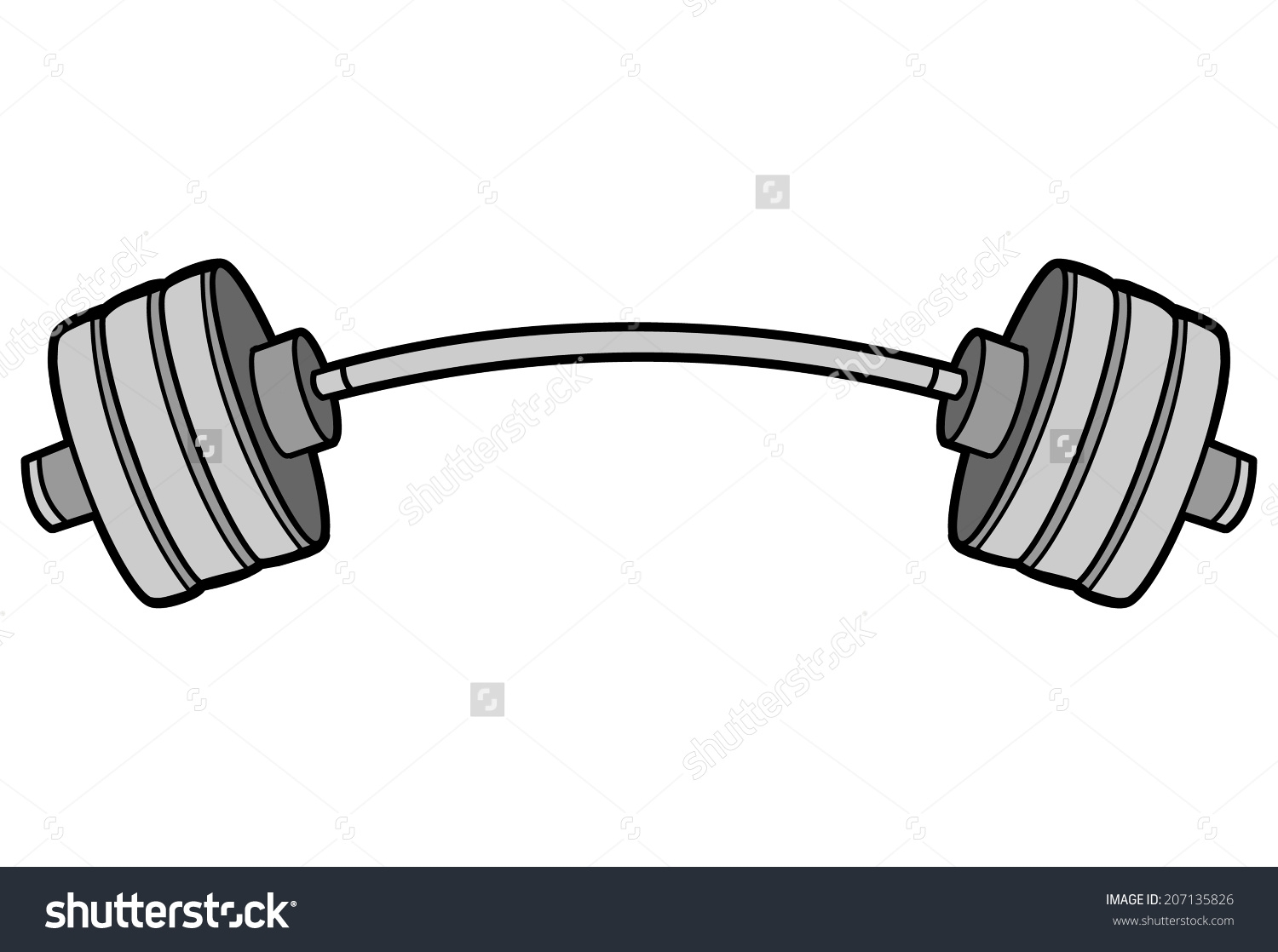 barbell clipart drawing