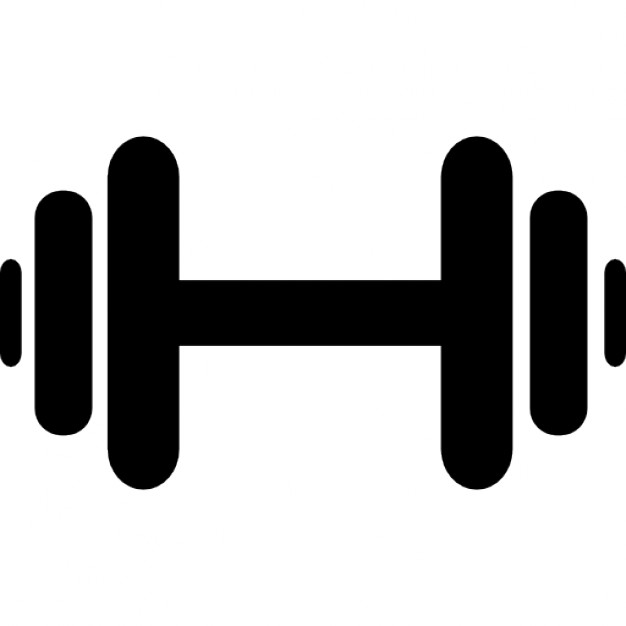 Dumbbell icons free download. Barbell clipart dumble