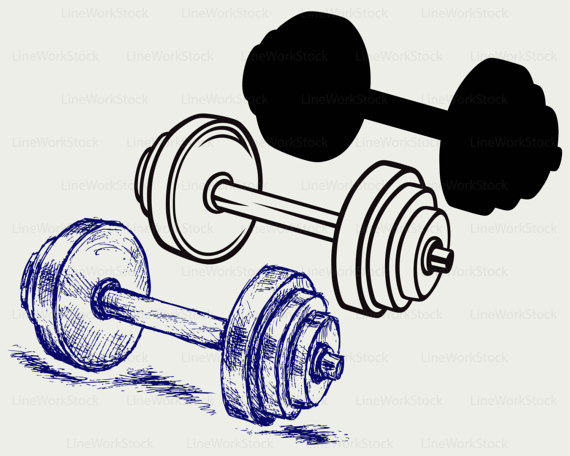 Barbell clipart dumble. Dumbbell weight svg svgdumbbell