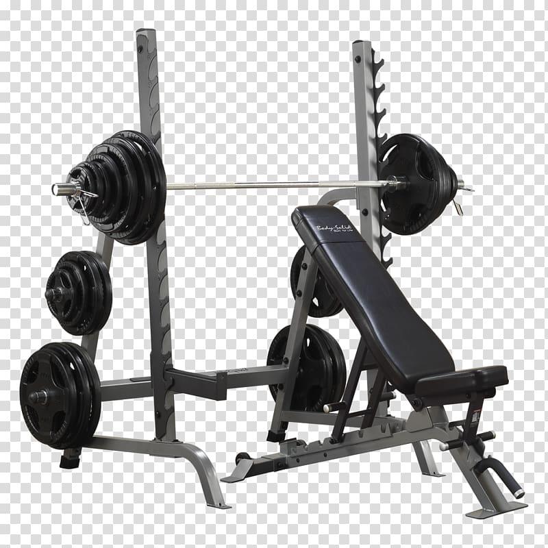 Dumbbells clipart bench press bar. Power rack squat exercise