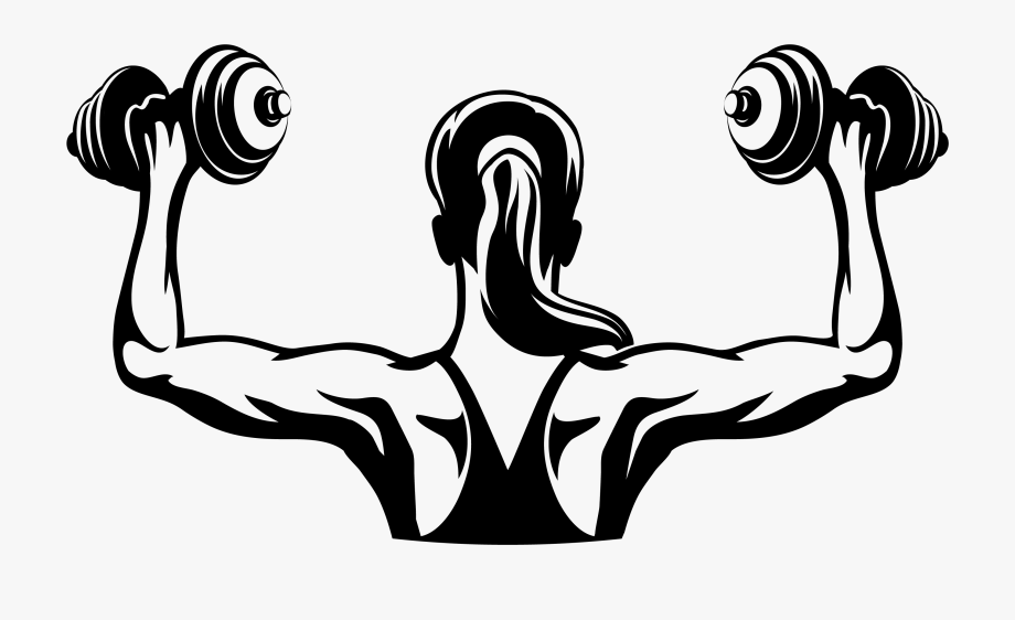 Dumbbell clipart female fitness. Women dumb bell png