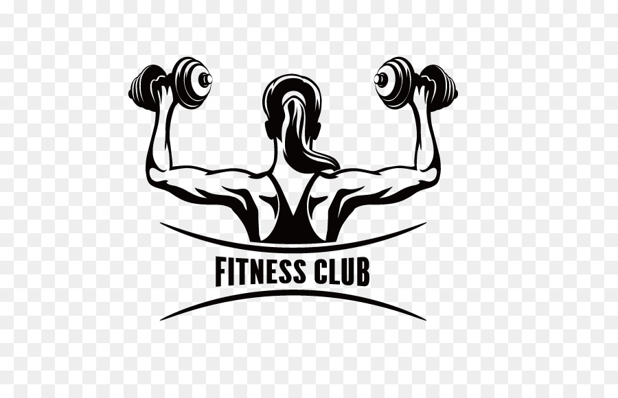 Fitness centre physical clip. Barbell clipart female