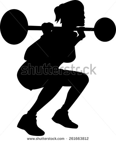 collection of weightlifting. Barbell clipart female
