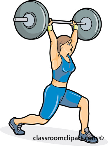 Weight clipart wieght. Woman lifting weights