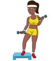 Search results for exercise. Barbell clipart female