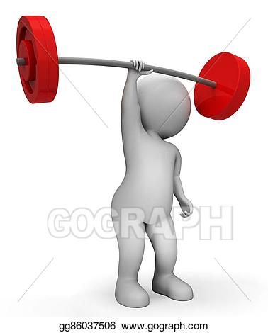 Weight clipart weight lifting equipment. Stock illustration means workout