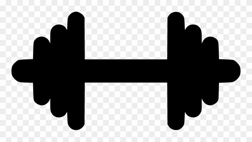 Gym dumbbell strong svg. Fitness clipart hand weight