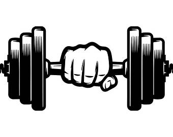 Svg etsy weightlifting bodybuilding. Dumbbell clipart hand weight