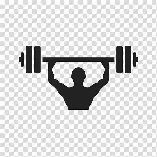 Silhouette illustration of lifter. Exercise clipart weight gym