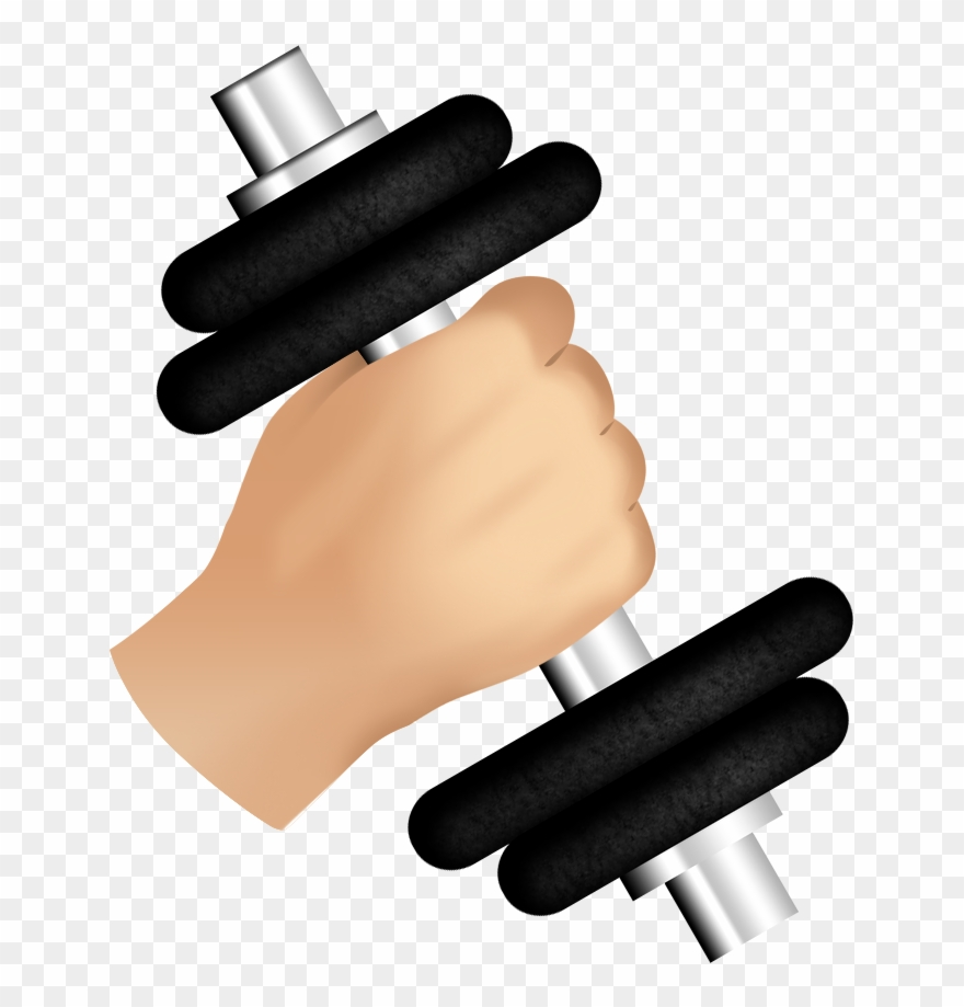 Dumbbell clipart hand weight. Clip transparent barbell