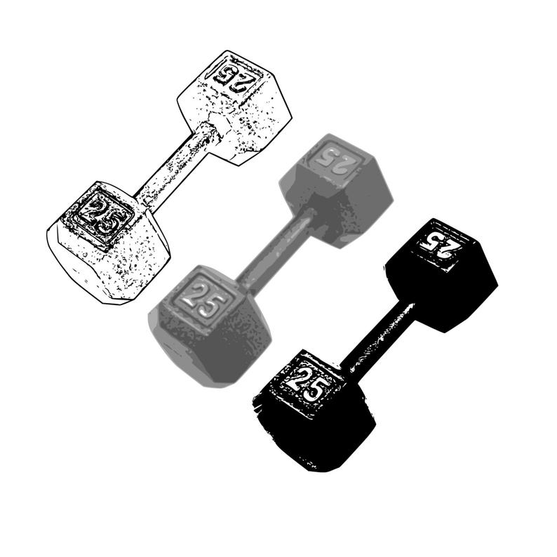 Barbell clip art hand. Dumbbell clipart gym equipment