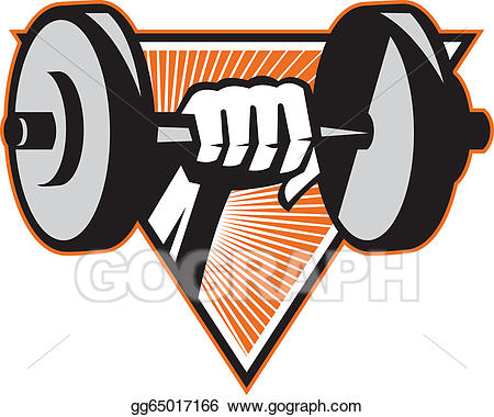 Dumbbells clipart hand weight. Eps vector lifting dumbbell