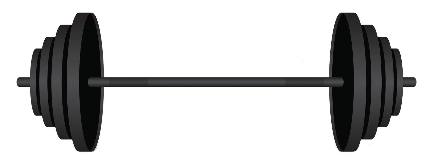 Black clipart barbell. Station