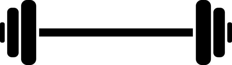 barbell clipart logo