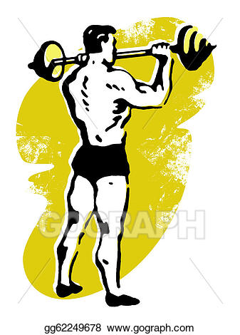 Stock illustration a very. Barbell clipart old fashioned