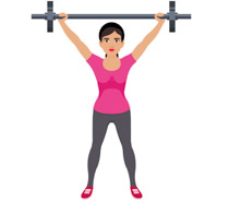 Search results for woman. Barbell clipart old fashioned