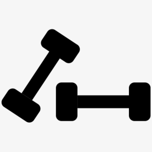 Free dumbbell cliparts silhouettes. Dumbbells clipart wieght