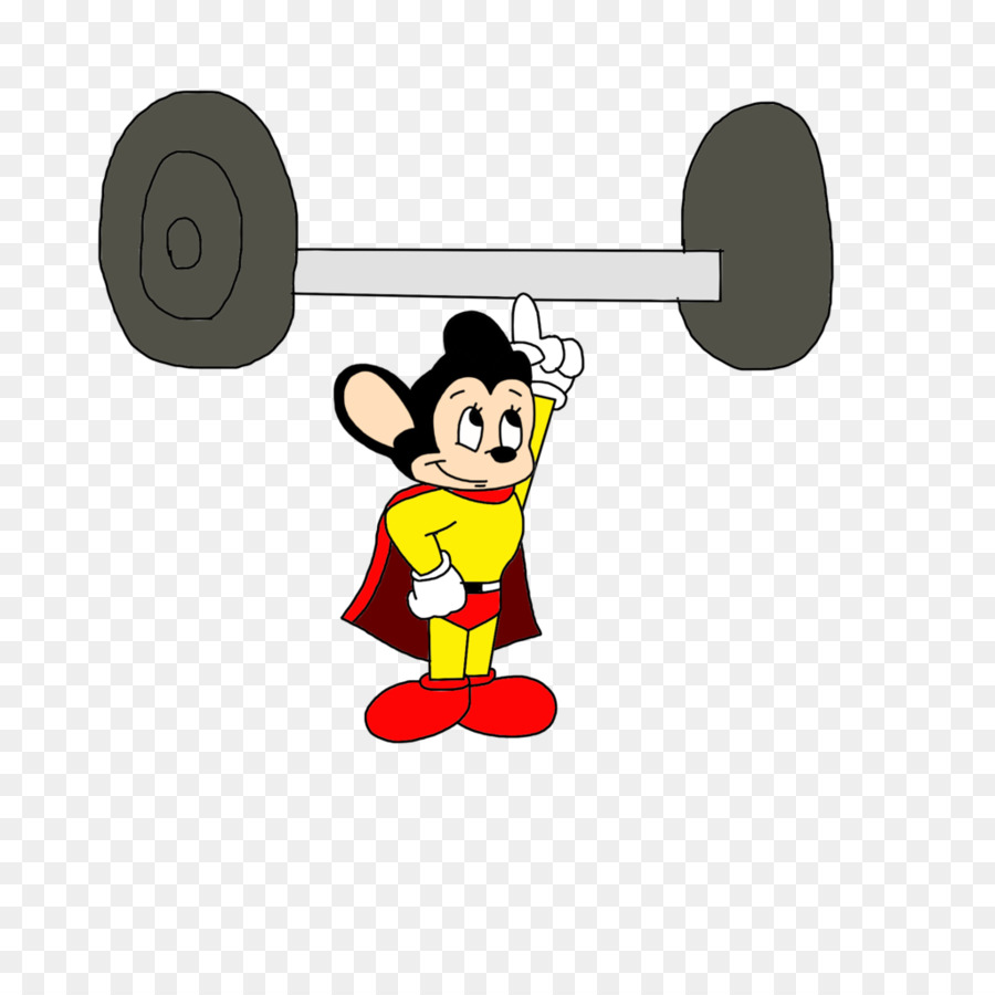 Mighty mouse weightlifting weight. Barbell clipart olympic barbell
