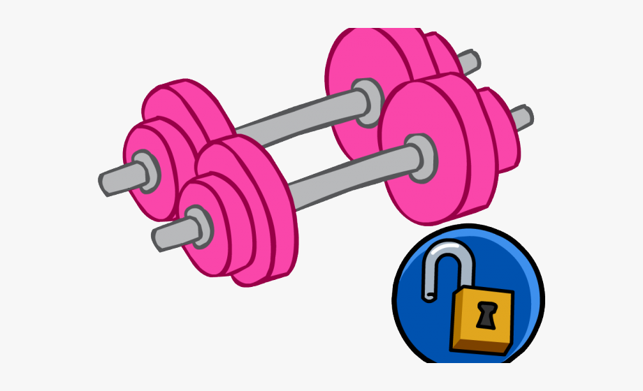 Dumbbells clipart personal fitness. Pink png