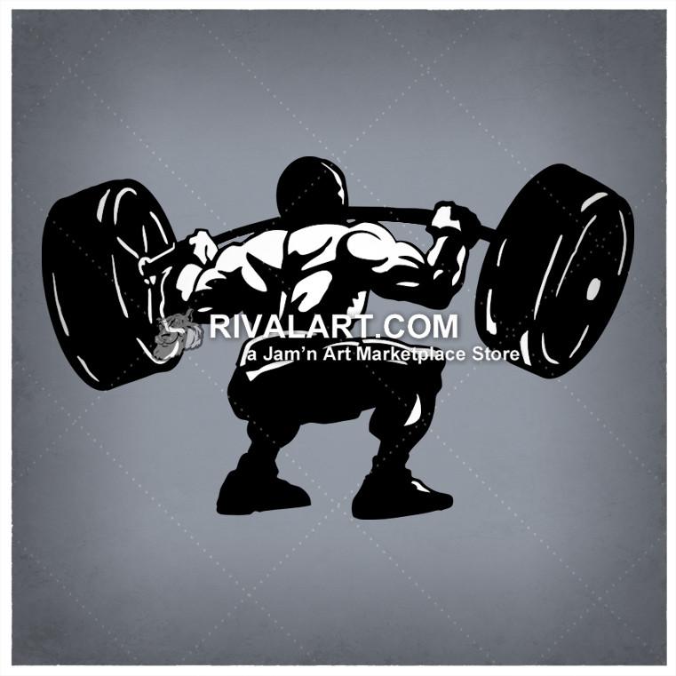 Barbell clipart powerlifting. Man weightlifter weightlifting bodybuilder