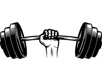 Dumbbell clipart powerlifting. Weightlifting clip etsy barbell