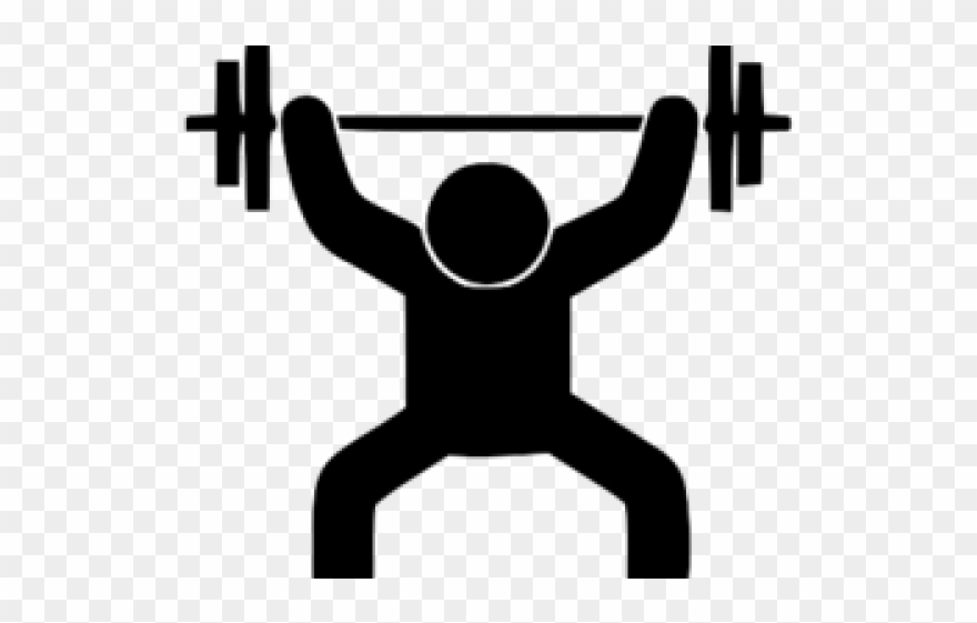 Weightlifting physical fitness squat. Barbell clipart powerlifting