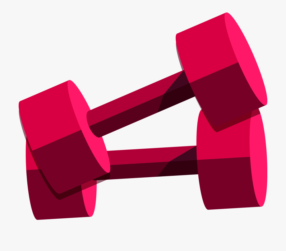 Dumbbells clipart pink dumbbell. Red free