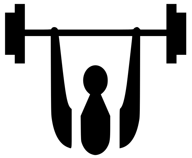Barbell clipart silhouette. At getdrawings com free