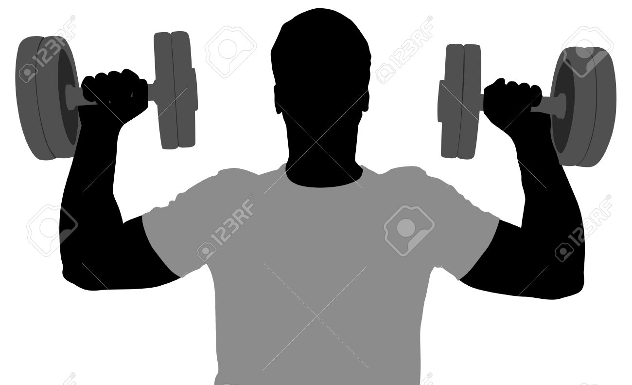 Dumbbell at getdrawings com. Barbell clipart silhouette