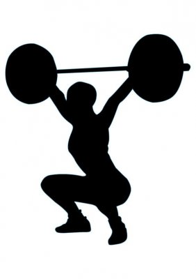 Powerlifting at getdrawings com. Barbell clipart silhouette